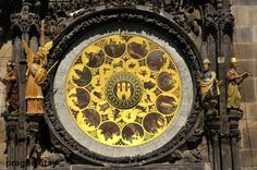 A detail  of the clock in Prague Old Town Square