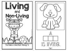 Living or Nonliving Emergent Reader for Kindergarten