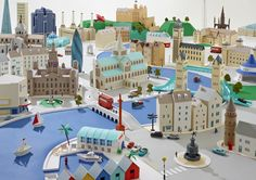 Hattie Newman - Paper city inspired by London