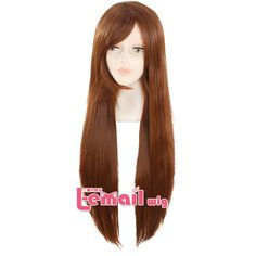 80cm long brown straight cosplay wigs High Temp Fiber heat resistant synthetic wigs