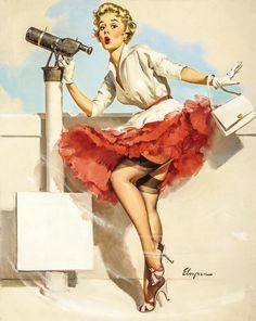 The Women Who Became Pinups   Vanity Fair Gil Elvgren, Orange Crush, Vintage Pins, Retro Vintage, Vintage Style, Pin Up Posters, Behance, Retro Pin Up, Drag