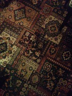 British pub carpet in The Crown, Addingham, Yorkshire.