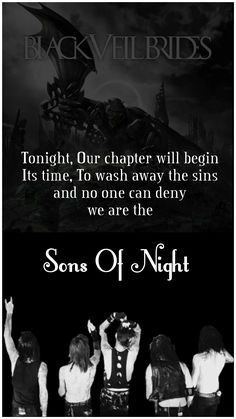 IPhone wallpaper - Black Veil Brides, Sons Of Night