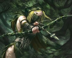 f Ranger Fantasy makes way for different races and classes such as elves and dwarves and rangers and knights. Even though fantasy can apply to anything it still creates stereotypes Fantasy Warrior, Warrior Girl, Elf Warrior, Fantasy Battle, Warhammer Fantasy, Warhammer Wood Elves, Fantasy Women, Dark Fantasy, Fantasy Forest