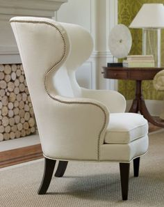 Beautiful rounded and curved Wing-Back Chair