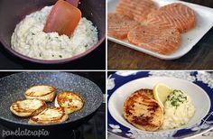 PANELATERAPIA - Blog de Culinária, Gastronomia e Receitas: Salmão com Risoto de Limão Siciliano