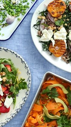 Spruce up your holiday weekend with four colorful salads loaded with fruits, vegetables and so much more. Memorial Day Desserts, Memorial Day Foods, Memorial Weekend, Tostadas, Food Network, New Recipes, Vegan Recipes, Slow Cooker, Dessert Cake Recipes