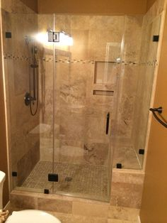 Travertine Tub to shower conversion in Conroe Tx / Magnolia Tx done by Alan Stone Tile & Stone Bathroom Remodeling Contractor