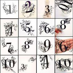 Paper Cut Numbers
