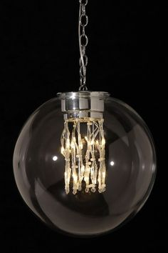 Modernist Glass Ball LED Chandelier by All that Shimmers Lighting on @HauteLook