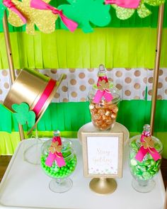 Candy buffet from a