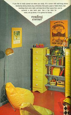gold country girls: Colorful Corners From Seventeen, Circa 1972 Vintage Room, Vintage Decor, Retro Vintage, Retro Room, 1970s Decor, Retro Home Decor, Vintage Interior Design, Vintage Interiors, Retro Bedrooms