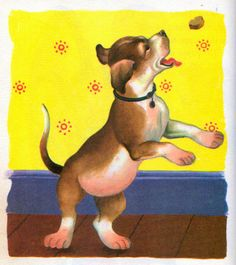 "My Puppy, Illustrations by Eloise Wilkin, 1955, 1972 edition- Puppy    		from ""My Puppy"",  Little Golden Book, 1955 (1972 edition)by Patsy ScarryIllustrations by Eloise Wilkin 1955"