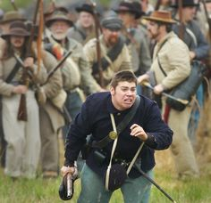 Civil War at Neshaminy State Park - In this file photo from 2008, a Union soldier runs for his life during the 19th annual Civil War Reenactment held at Neshaminy State Park in Bensalem.