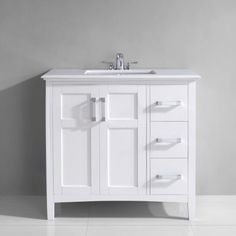 Merveilleux U0027Salemu0027 White Marble Top Single Sink Bathroom Vanity   Overstock™ Shopping    Great Deals On WyndenHall Bathroom Vanities