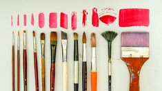 Paint Brushes Types and Their Uses Color Mixing, Painting, Beauty, Brushes, Youtube, Activity Toys, Painting Art, Paintings, Blush