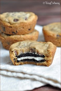 Double stuffed Oreo cookies sandwiched in between two chocolate chip cookies. The BEST cookies ever!