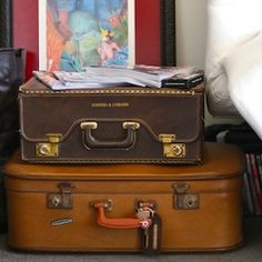 How a suitcase found on the side of the road was refurbished and reused.
