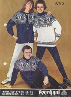 Eirefjell 976 S Norway In A Nutshell, Norwegian Knitting, Vintage Knitting, Color Combinations, Knitwear, Knitting Patterns, Crochet, Sweaters, How To Wear