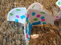 We have had so much rain lately, this seemed like an appropriate craft.  I am not very good at taking pictures of crafts that hang. The umb...