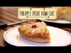 Pineapple Upside Down Cake with coconut