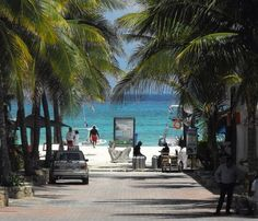 View to the beach from Fifth Ave Playa Del Carmen