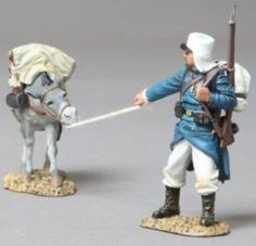 French Foreign Legion FFL033B Legionnaire with Supply Donkey - Made by Thomas Gunn Military Miniatures and Models. Factory made, hand assembled, painted and boxed in a padded decorative box. Excellent gift for the enthusiast.