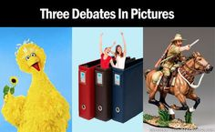 Three debates in pictures. Can't decide if this goes under humor or politics since there's such a defined line between the two! LOL
