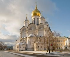 The Cathedral of the Archangel, or Arkhangelsky sobor, is a Russian Orthodox church dedicated to the Archangel Michael. It is located in Cathedral Square of the Moscow Kremlin in Russia between the Great Kremlin Palace and the Ivan the Great Bell Tower.