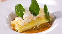 Cannelloni de langouste, bisque crémeuse Cannelloni, Cantaloupe, Fruit, Pizza, Cooking, Gourmet Recipes, Cooker Recipes, Parties Food, Kochen