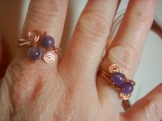 Here's a great site with several ideas to make rings---sure to be a hit with the older girls.
