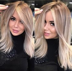 Ash blonde hair color is very popular and looks great on fair skin. Ash's blonde hair color is one of the many colors of blonde hair that she likes a lot. Dark Ash Blonde Hair, Highlighted Blonde Hair, Blonde Hair With Fringe, Toning Blonde Hair, Carmel Blonde Hair, Toner For Blonde Hair, Fall Blonde Hair, Blonde Layered Hair, Hair Toner