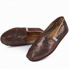 Toms Womens Brown Sequins Shoe $16.89
