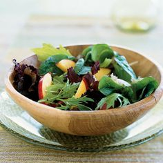 Mixed Greens and Nectarine Salad by Cooking Light