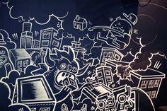 Sid Lee Chalk Mural by Wall Dizzy, via Behance