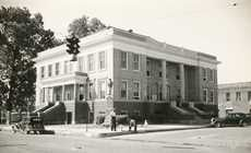 Jefferson: Marion County Courthouse in 1939; built in the Tx. Renaissance Style by Elmer Geo. Withers in 1912.