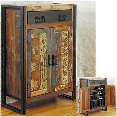Urban-Chic-solid-reclaimed-wood-hallway-shoe-storage-cabinet-cupboard