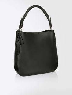 Max Mara HOBO07S black: Leather Hobo Bag.