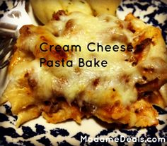 Blog post at Real Advice Gal : Cream Cheese Pasta Bake      If you love easy, hearty meals in winter like I do, then you will love my Cream Cheese Pasta Bake! T[..]