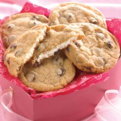 Cream Cheese Filled Chocolate Chip Cookies Recipe | Just A Pinch Recipes