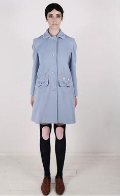Vivetta Cat Coat pale blue
