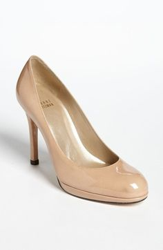also good basic black patent pump. Stuart Weitzman 'Platswoon' Pump available at #Nordstrom