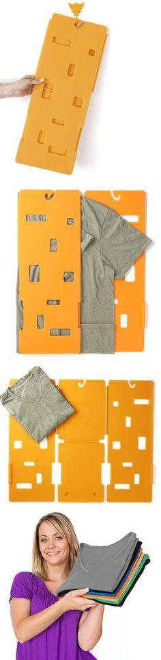 Miracle Fold // Achieve the perfect folded tshirt every time with this handy device #product_design #Gadgets