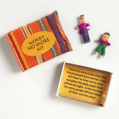 One of my favorite discoveries at WorldMarket.com: Worry No More Worry Doll Kit