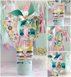 Easy DIY Party Centerpiece by Fawn on Love the Day