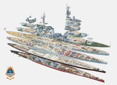 HMS Belfast (cutaway) by Ross Watton