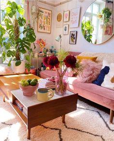 Boho Living Room, Living Room Decor, Living Spaces, Bedroom Decor, Deco Retro, Aesthetic Room Decor, Estilo Boho, Living Room Inspiration, Home Interior Design