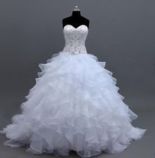 2014 New White/Ivory Sweetheart Ball Gown Wedding Dress Size6-8-10-12-14-16-18++