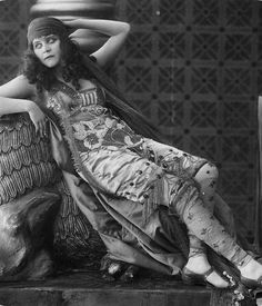 """Actress Theda Bara at Home 