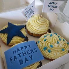 Lemon sponge cupcakes I made my dad for Father's Day